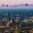 ミャンマー・バガンで迎えた朝。