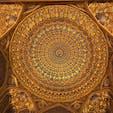 ウズベキスタン サマルカンド ティラカリ・メドレセの黄金の礼拝堂