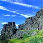 アメリカンプレートとユーラシアプレートの境目、ギャウ アイスランド