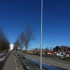 3月のフィンランドの郊外。綺麗に晴れたので。。。