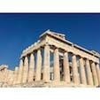 アクロポリスの丘 パルテノン神殿 アテナイの守護神、女神アテナを祀ったドーリア式神殿 BC447着工、BC438完工、装飾等はBC431まで。