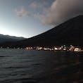 真っ暗でよく見えなくなるちょい前。 #中禅寺湖 #今度は明るいうちに行く。