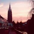ベルギー ブルージュ 運河の流れる美しい街です。 夕闇に包まれていく風景は感動的なものでした。