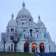 フランス・パリ モンマルトル サクレ・クール寺院 ここからはパリが一望でき、素晴らしい景観が広がります。朝焼けのパリ、おすすめです^_^