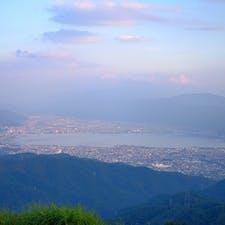 高ボッチ高原から望む諏訪湖@長野県