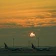 カタール ドーハハマド国際空港 フランスへのトランジットで出逢ったドーハの夜明け