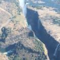水が少なすぎて、滝になれないビクトリアの崖