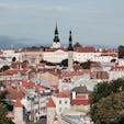 ラトビアの首都タリンの旧市街を一望