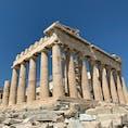 アテネのシンボルとも言えるパルテノン神殿。古代に造られたものがこうして現代に残っているのが何とも素敵です✨ 空の青さと神殿の色のコントラストもたまりません!加工や修正は一切無しでこの空の色です!