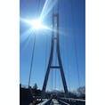 日本最長400mの人道吊橋「三島スカイウォーク」 いい天気で何より☀︎  #日本最長 #人道吊橋の中で日本最長