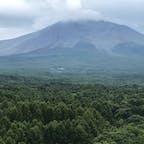 おもちゃ王国の観覧車から見える浅間山噴火警戒レベル2(群馬県吾妻郡)
