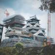 熊本県 熊本城 復興にむけて がんばれ!