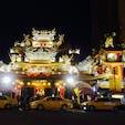 台北 嫦娥夜市 葱餅最高!!  入り口付近の行列ができてるお店です。