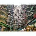 2019年9月5日 #香港 色もカラフルでGOOD!洗濯物飛んでかないのかな?☺︎