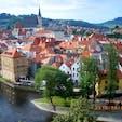 チェコ/チェスキークルムロフ 城の窓から素敵な市街が撮れました。
