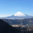ロープウェイからの富士山@大涌谷
