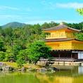 京都 鹿苑寺金閣 観光客多い