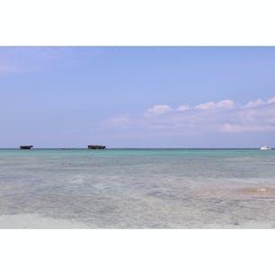 沖縄一人旅で行った万座ビーチ!