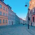 ポーランド ワルシャワの街並み 天気が良くとても綺麗でした☺️