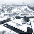 #五稜郭 #函館 #北海道 2018年12月  真冬の五稜郭はモノクロ世界...❄️❄️