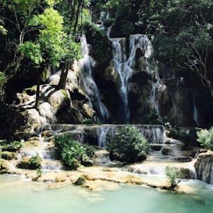 ラオス ルアンパバーン クァンシーの滝