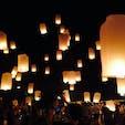 @チェンマイ ランタン祭り