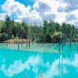 青い池 北海道