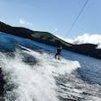 山中湖ウェイクボード