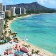 ハワイ/ワイキキビーチ 定番だけど ハワイはやっぱり絵になります。
