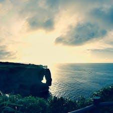 3泊4日で沖縄へ行って来ました。万座毛の夕日