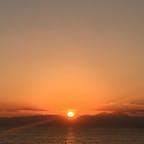 江ノ島からの夕日