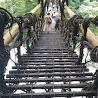 くつ1個分くらいの隙間があいてて震えたけど楽しかった(^_^)   #徳島 #祖谷のかずら橋 #かずら橋 #祖谷 #大歩危