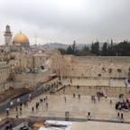 エルサレム旧市街と嘆きの壁。