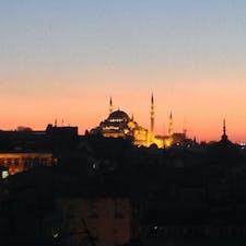 ブルーモスクの夕焼け。
