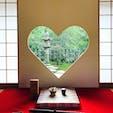 京都 正寿院の猪目窓❤️