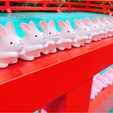 岡崎神社⛩ 可愛いうさぎのおみくじが並んでます♡