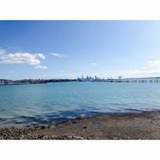 in New Zealand  《ミッションベイ》  ここからの眺めは最高。