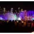 シンガポール マリーナベイサンズで夜に行われる 、音楽 と光、水のショーSPECTRA 夜8時位から15分ほどでやります❤︎ 短いですが、とても感動しますのでぜひ!✿