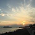 七里ヶ浜の夕焼け♪