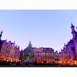 ベルギー ブリュッセル グランプラス ライトアップ