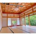 正寿院♡ ハートの窓と天井がとても素敵な場所でした‼️  天井の絵は、2つあり本堂の天井は煤で見づらいですが歴史を感じられこちらも素敵でした♪
