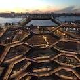 New York / Manhattan Vessel 夕暮れ時のヴェッセルからの眺め。絶景です!!