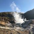 登別温泉〜地獄谷♨️👹 硫黄の匂いがまぁまぁすごくて、宿泊した旅館にも匂いがー 自然のパワーすごっ😳