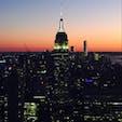 New York / Manhattan Rockfeller Center 夕暮れ時のロックフェラーセンターの展望デッキからの眺め。ニューヨークにいることを感じられる瞬間です!