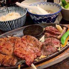 #炭火牛たん東山 #仙台 #宮城 2019年8月  牛たんと#仙台牛 の赤身ステーキのハーフにしたけど 牛たんだけでも良かったかもしれない🐂🐃🐄