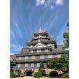 岡山城 台風の空