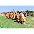 Masaimara,Kenya🇰🇪 カラフルな衣装の女性達が歓迎のダンスをしてくれました💃