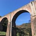明治に造られた鉄道の橋です。 今は鉄道は通っていないので橋の上を歩くことができます。