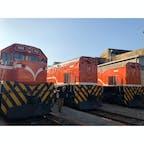 重厚感たっぷり、厚塗りでかわいい電車たち🚃 #彰化扇形車庫