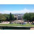 フランス🇫🇷パリ  モンマルトルのサクレ・クール寺院を背にして♪ #フランス #パリ #モンマルトル #サクレ・クール寺院